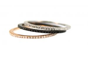 Tiny Tiny Micro Pave Rings