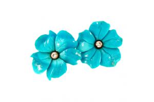 Turquoise Flower Stud