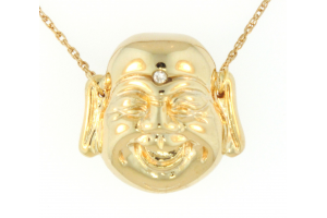 Single Gold Happy Buddha