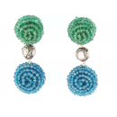Sapphire and Emerald Drop Earrings!