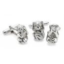 Hear See Speak No Evil Monkey Cufflink Set
