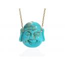 Turquoise Happy Buddha